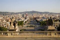 巴塞罗那实际外型的宫殿 库存照片