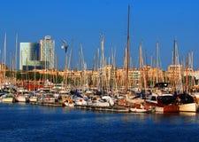 巴塞罗那小船 免版税库存照片