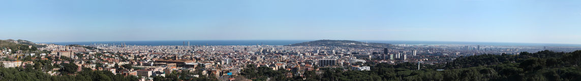 巴塞罗那巨大概览 免版税图库摄影