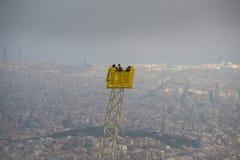 巴塞罗那市看法  免版税库存照片