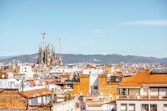 巴塞罗那市视图 免版税库存照片