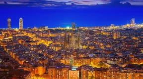 巴塞罗那市都市风景  库存图片