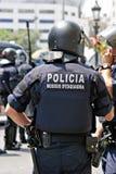 巴塞罗那干预警察西班牙 免版税库存图片