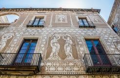 巴塞罗那房子 免版税库存图片