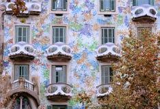 巴塞罗那房子 库存照片