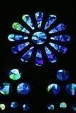 巴塞罗那教会玻璃 库存照片