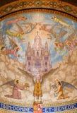 巴塞罗那教会fom马赛克 免版税图库摄影