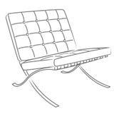 巴塞罗那椅子eps文件向量 向量例证