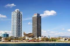 巴塞罗那海岸20的 2017年9月 免版税库存照片