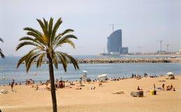 巴塞罗那海滩 免版税图库摄影