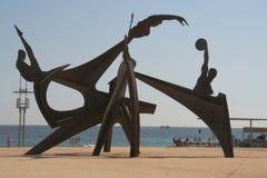 巴塞罗那海滩 免版税库存图片