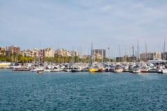 巴塞罗那港口。 免版税库存照片