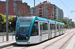 巴塞罗那电车 免版税库存照片