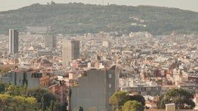 巴塞罗那的全景从上面的 股票视频