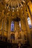 巴塞罗那的大教堂 免版税图库摄影