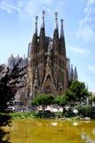 巴塞罗那的著名大教堂La Sagrada Familia 免版税图库摄影