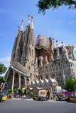 巴塞罗那的著名大教堂La Sagrada Familia 图库摄影