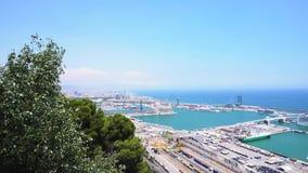 巴塞罗那端口西班牙 股票视频