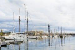 巴塞罗那端口西班牙 图库摄影