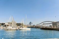 巴塞罗那端口西班牙 免版税库存图片