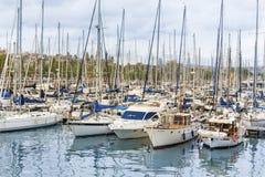 巴塞罗那端口西班牙 库存照片