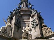 巴塞罗那纪念碑 免版税库存图片