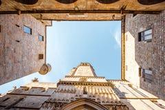 巴塞罗那老镇  库存图片