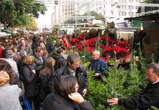 巴塞罗那节日llucia圣诞老人 库存图片