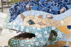 巴塞罗那蜥蜴 库存照片