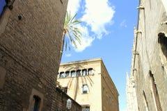 巴塞罗那街卡塔龙尼亚西班牙 免版税库存照片