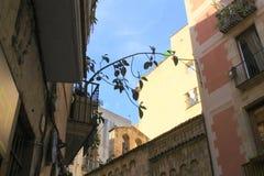 巴塞罗那街卡塔龙尼亚西班牙 库存图片