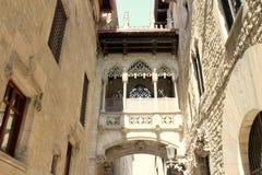 巴塞罗那街卡塔龙尼亚西班牙 免版税库存图片