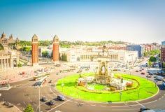 巴塞罗那西班牙广场 免版税图库摄影