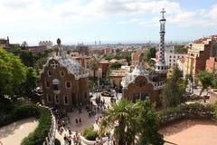 巴塞罗那西班牙- 2013年6月10日:入口房子的上面从 库存照片