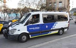 巴塞罗那警察  免版税库存照片