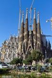 巴塞罗那详细资料门面familia sagrada西班牙 图库摄影