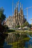 巴塞罗那详细资料门面familia sagrada西班牙 库存照片