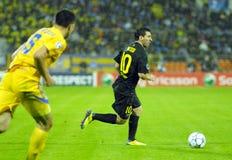 巴塞罗那软化剂fc足球比赛 库存照片