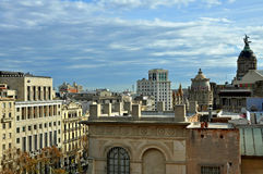 巴塞罗那都市风景 库存图片
