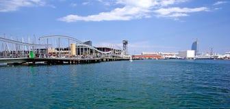 巴塞罗那都市风景 免版税库存照片