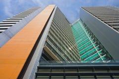 巴塞罗那门面摩天大楼西班牙 免版税库存图片