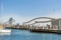 巴塞罗那,口岸Vell,西班牙 免版税库存照片