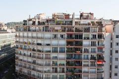 巴塞罗那,旗子巴塞罗那,西班牙- 2017 10月17日,头等的视图  免版税库存图片