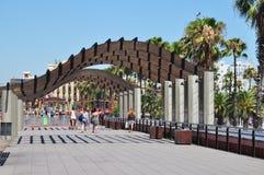 巴塞罗那,西班牙:街市 免版税库存图片