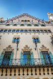 巴塞罗那,西班牙- 2016年4月18日:Illa de la Discordia 门面住处Amatller是在Modernisme样式的一个大厦在巴塞罗那 库存图片