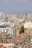 巴塞罗那,西班牙- 2017年10月14日 城市概要 库存照片