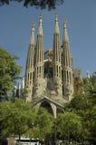 巴塞罗那,西班牙- September18, 2011年-著名寺庙Sagrada Familia 免版税库存图片