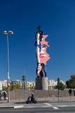 巴塞罗那- 10月, 28 : 巴塞罗那顶头雕塑 图库摄影