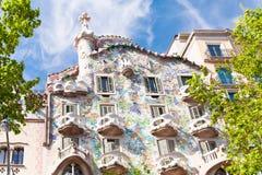 巴塞罗那batllo住处 免版税库存照片