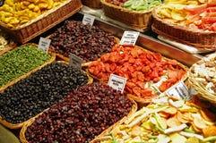 巴塞罗那Boqueria市场全世界果子 图库摄影
